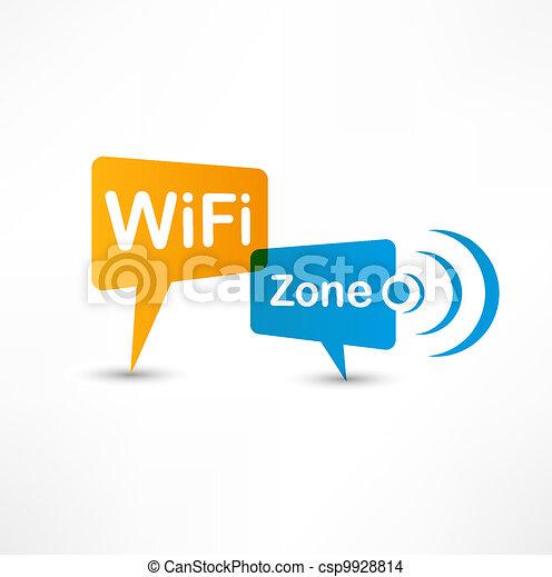 WiFi Zone speech bubbles - csp9928814