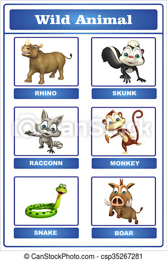 3d Rendered Illustration Of Wild Animal Chart