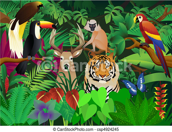 wild animal clipart vector search illustration drawings and eps rh canstockphoto com amazon river clipart amazon warrior clipart