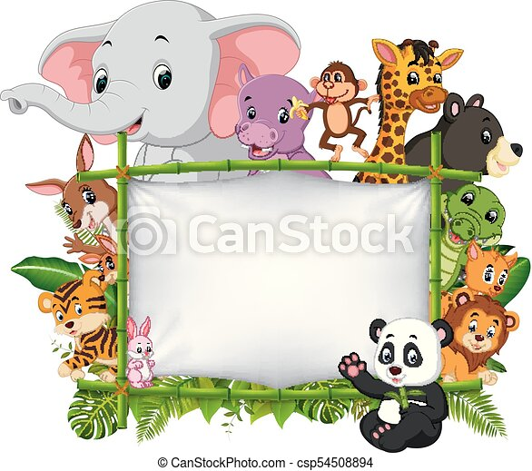 Wild Animal Standing On A Bamboo Frame