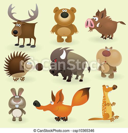 Wild animals set #2 - csp10365346