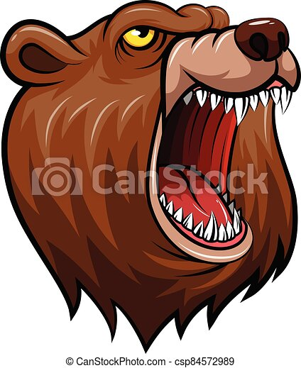 wild bear head mascot - csp84572989