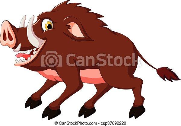 Wild boar cartoon - csp37692220
