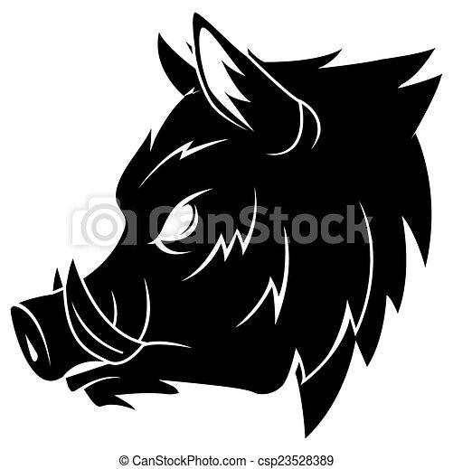 Wild boar - csp23528389