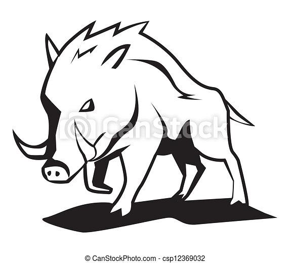 wild boar - csp12369032