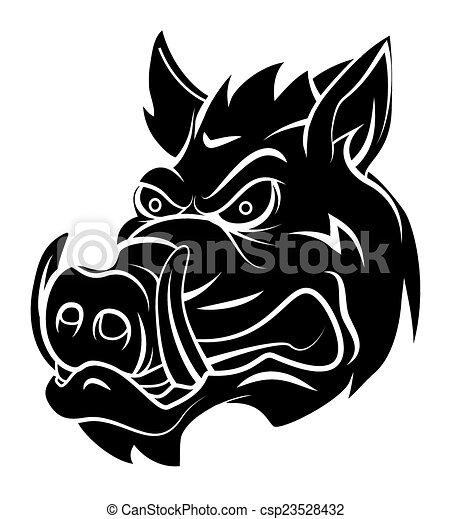 Wild boar - csp23528432