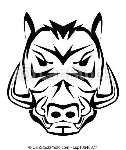 wild boar mascot - csp10646377