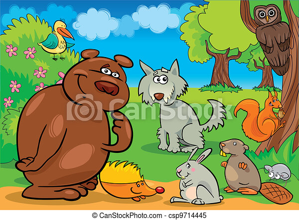 wild forest animals - csp9714445