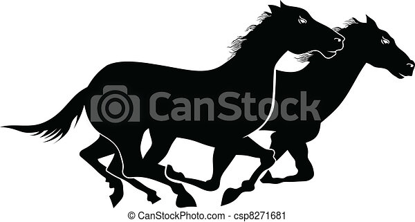 Wild horses - csp8271681
