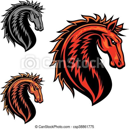 Wild Mustang Horse Cartoon Mascot Wild Mustang Horse Mascot With