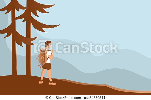 wild., sac à dos, jeune homme - csp84380544