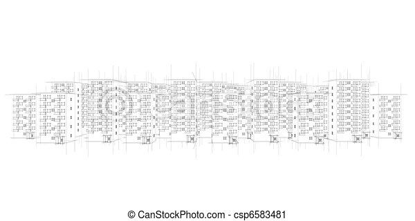 wild sketch of city - csp6583481