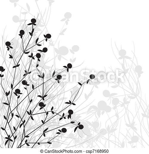 wild, struik, bloemen - csp7168950