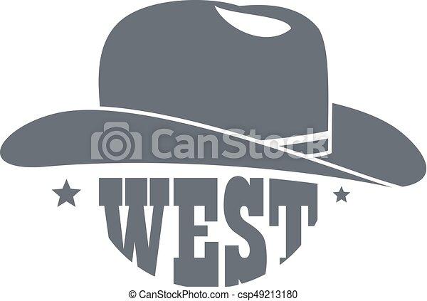 237d5b5cc Wild west cowboy hat logo, simple style