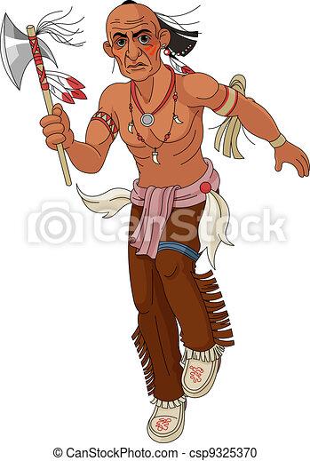 Wild west.  Indian - csp9325370