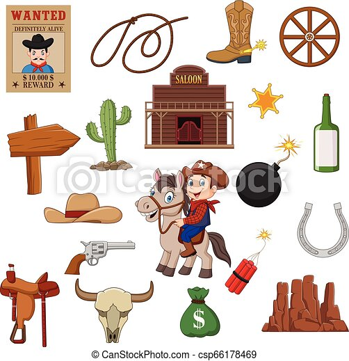Wild west western collection set - csp66178469