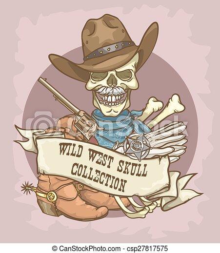 wild westen, etiket - csp27817575