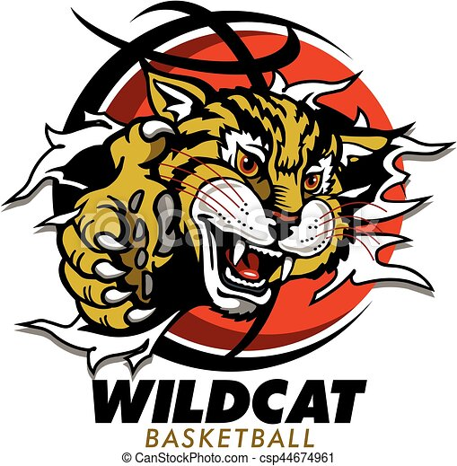 wildcat basketball wildcat mascot ripping through clip art rh canstockphoto ca wildcat school mascot clipart wildcat mascot clipart free