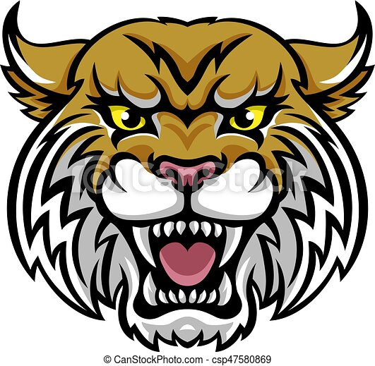 wildcat bobcat mascot an angry looking wildcat or bobcat clip rh canstockphoto com wildcat clipart free download wildcats clipart free