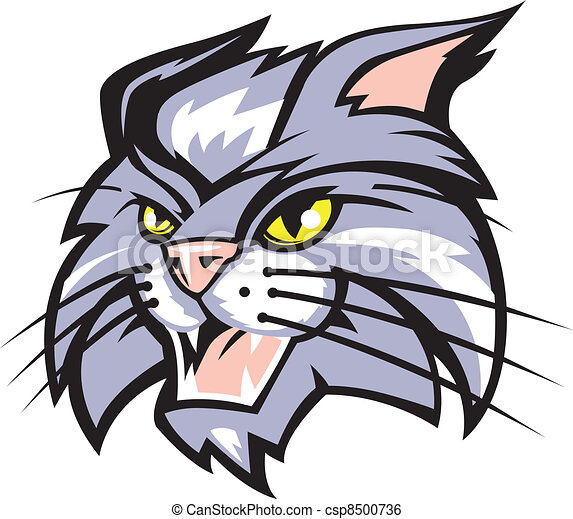mascot art of a wildcat clip art vector search drawings and rh canstockphoto com wildcat clipart free download wildcat clipart free download