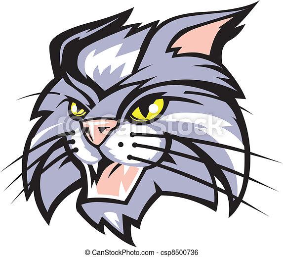 mascot art of a wildcat clip art vector search drawings and rh canstockphoto com wildcat clip art images wildcat clip art