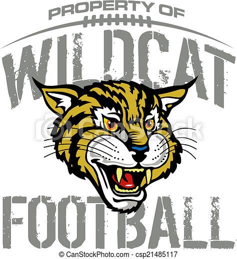 Diseño de fútbol Wildcat con mascota - csp21485117
