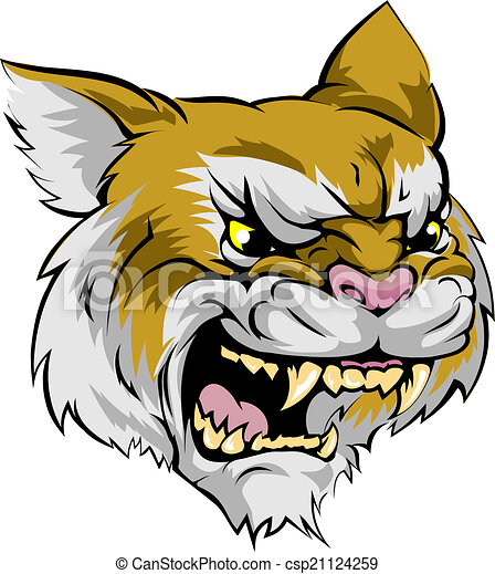 wildcat mascot character an illustration of a fierce wildcat animal rh canstockphoto ca wildcat mascot clipart free