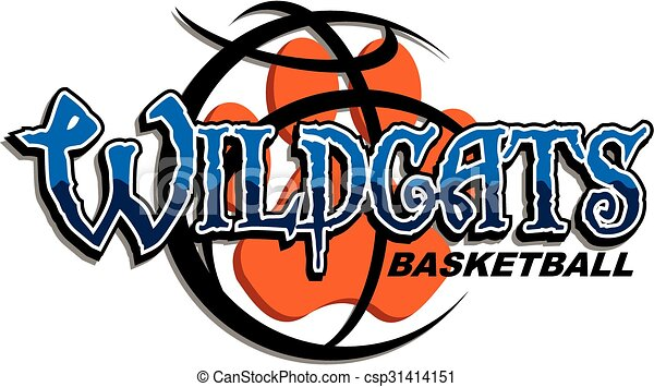 wildcats basketball team design with paw print inside large rh canstockphoto com kentucky wildcats clipart wildcats clipart free