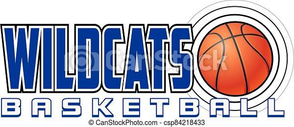 Wildcats Basketball Design - csp84218433