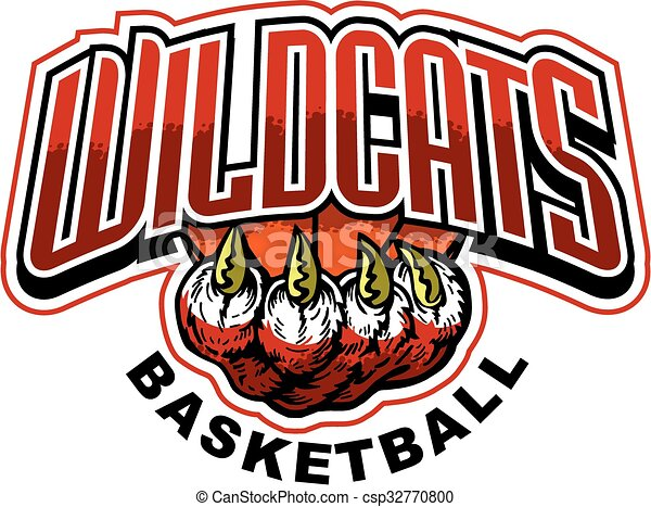 wildcats basketball team design with claw for school college or league