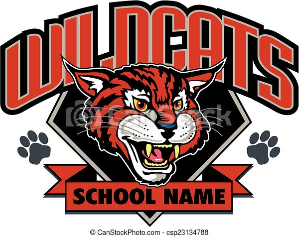 Diseño de mascotas Wildcats - csp23134788