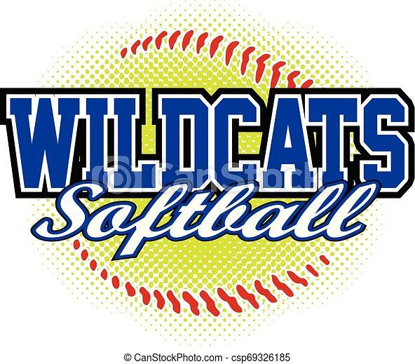 Diseño de softball de Wildcats - csp69326185