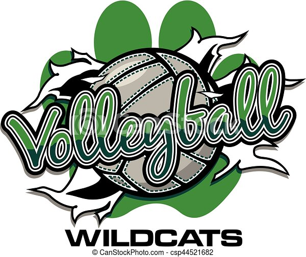 wildcats volleyball team design with ball ripping through vector rh canstockphoto com wildcats clipart free wildcats clipart