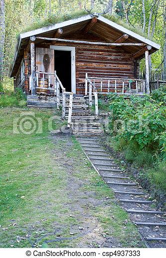 Wilderness Log Cabin - csp4937333