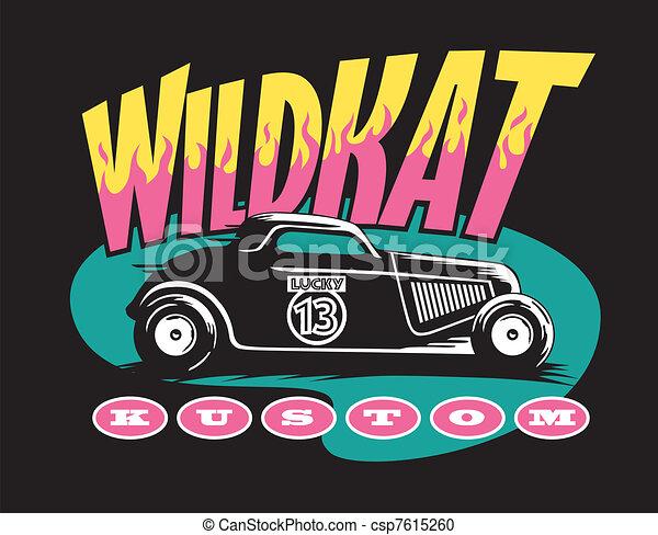 Wildkat Kuston hot rod design  - csp7615260