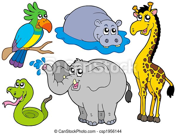 wildlife animals collection isolated illustration drawing rh canstockphoto com