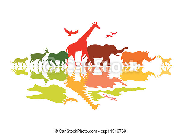wildlife safari wild animals vector illustration rh canstockphoto com Bumble Bee Clip Art Free free wildlife clipart images