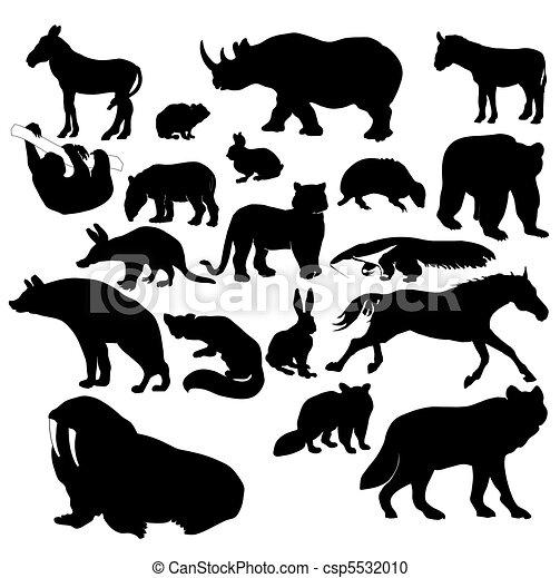illustration of wildlife animals vector clipart search rh canstockphoto com wildlife clipart free wildlife clip art free