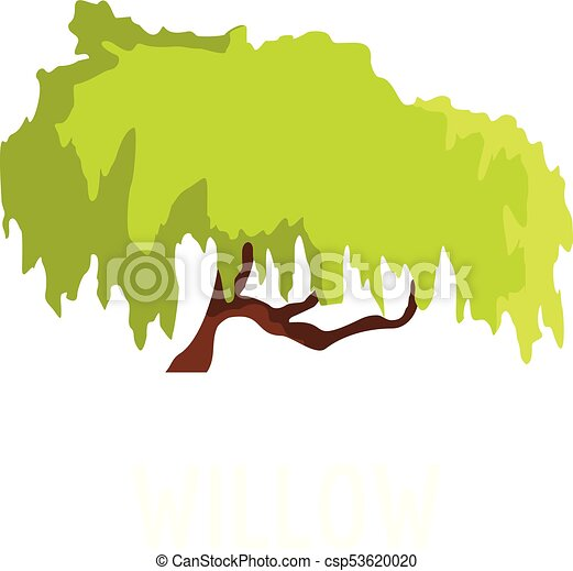 willow tree icon flat style willow tree icon flat vector rh canstockphoto com willow tree clipart willow tree branch clip art
