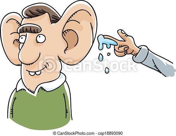 willy, orelha gigante, molhados - csp18893090