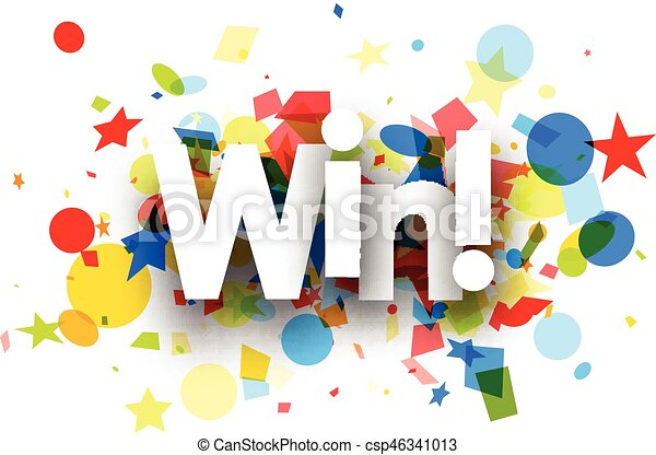 win background with colorful confetti win paper background rh canstockphoto com confetti vector png confetti vector png