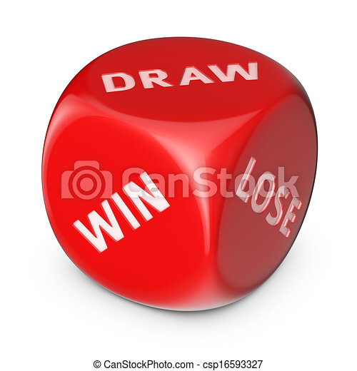 Win Or Draw Or Lose Win Draw Lose Concept Big Red Dice With Options