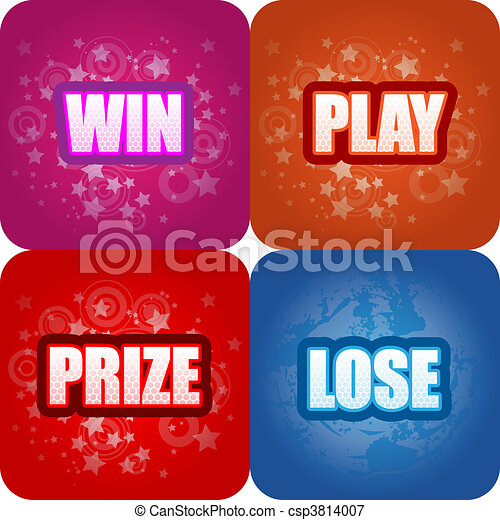 Win, Play, Prize, Lose Graphics - csp3814007