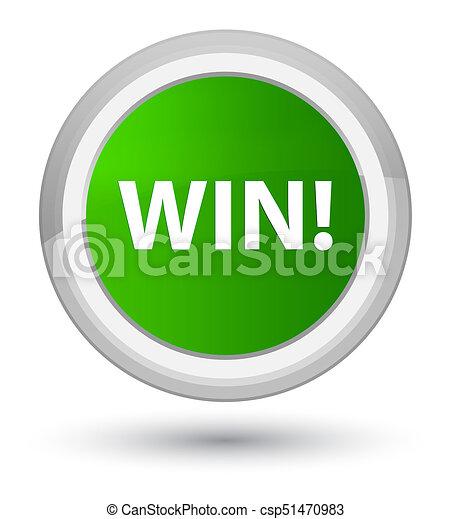 Win prime green round button - csp51470983