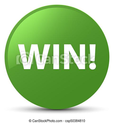 Win soft green round button - csp50384810