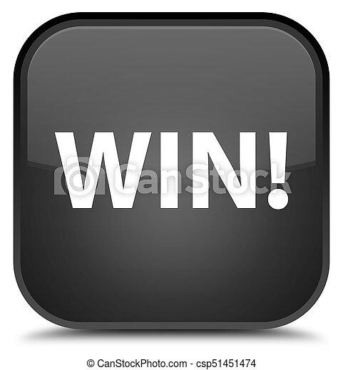 Win special black square button - csp51451474