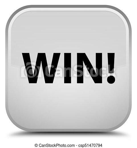 Win special white square button - csp51470794