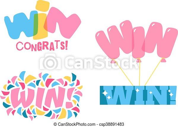 Win text vector illustration - csp38891483