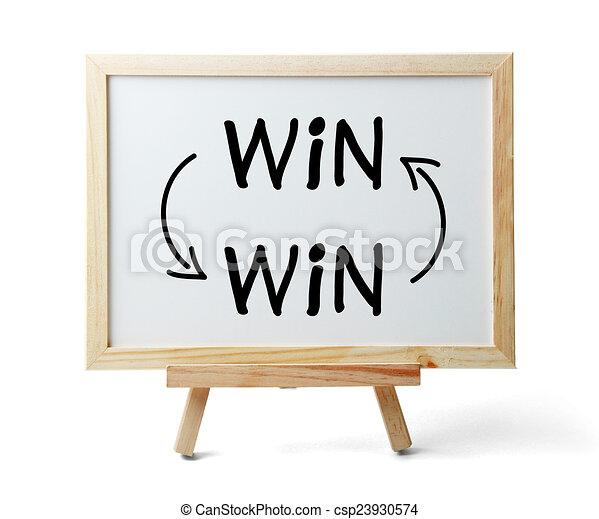 El concepto de ganar-ganar - csp23930574
