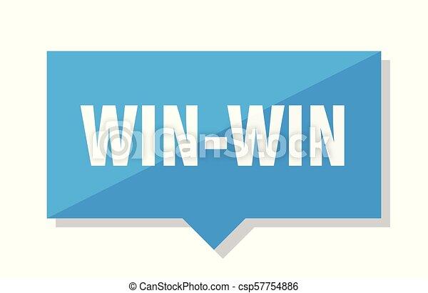win-win, prijs label - csp57754886